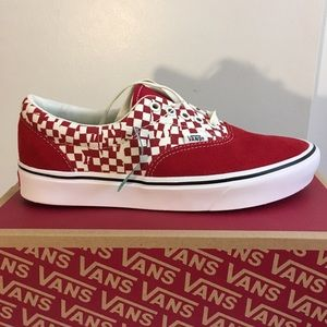 Vans Comfy Cush Red and White Sneakers